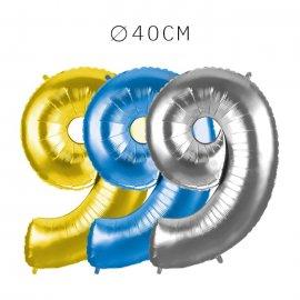 Balão Número 9 Foil 40 cm