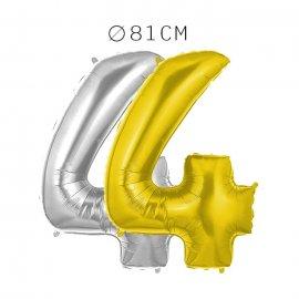 Balão Número 4 Foil 81 cm