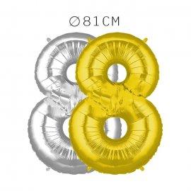Balão Número 8 Foil 81 cm
