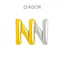 Balão Letra N 40 cm