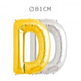 Balão Letra D Foil 81 cm