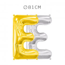 Balão Letra E Foil 81 cm