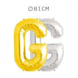 Balão Letra G Foil 81 cm