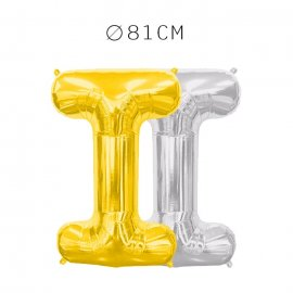Balão Letra I Foil 81 cm