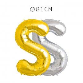 Balão Letra S Foil 81 cm